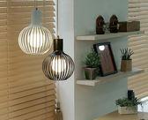 球形吊燈創意鐵藝術燈後現代簡約客廳書房樓梯間美式圓形餐廳吊燈  igo  生活主義
