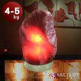 【鹽夢工場】原礦系列-富貴紅鹽燈(4-5kg|大理石座)