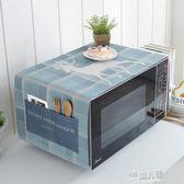 微波爐蓋巾棉麻蓋布格蘭仕微波爐罩烤箱罩套北歐防塵罩  9號潮人館