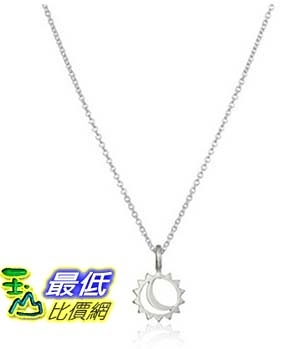[美國直購] Dogeared Reminder Let Your Bright Light Shine Sun and Moon Pendant Necklace, 16.25 項鍊