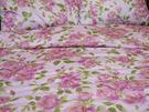 碧多妮寢飾-玫瑰金邊花朵-60支紗精梳綿-加大床包組-標準版-[P2249]