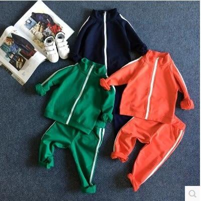 套裝運動外套男童女童兒童新款2件式百搭潮流套裝