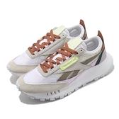 Reebok 休閒鞋 CL Legacy 灰 棕 女鞋 Classic Leather 運動鞋 【ACS】 FY7443