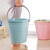 加厚可手提塑料水桶 家用大號方形提水桶洗衣桶洗車儲水桶拖把桶 DR2877 【Rose中大尺碼】
