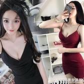 2020年新款夏低胸性感夜店女裝時尚包臀吊帶一步小短裙緊身洋裝 『歐尼曼家具館』