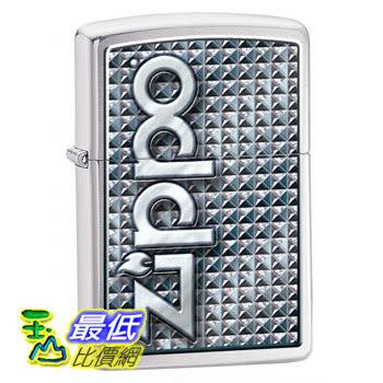 [104 美國直購] Zippo 3D Abstract 1 Lighter (Silver, 5 1/2x3 1/2-Cm) 打火機