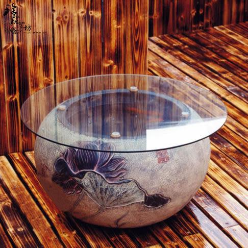 100%好評 玻璃魚缸茶幾-荷香 可養魚 熱銷五年類匠心坊風格