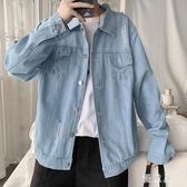破洞牛仔外套 男韓版新款學生衣服潮流寬鬆春夏季港風夾克 BT21640『優童屋』
