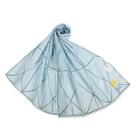 Sybilla幾何線條抗UV純綿薄圍巾(水藍色)989401-A