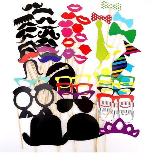 54款生日派對創意迎賓 紙鬍子 紅唇 鏡框 等拍攝道具─預購CH298