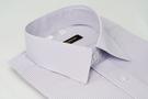 【金‧安德森】紫白條紋吸排窄版短袖襯衫