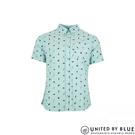 United by Blue 男棉麻短袖襯衫 101-044 norde / 城市綠洲 (短袖、襯衫、防曬、有機棉、輕便、美國)