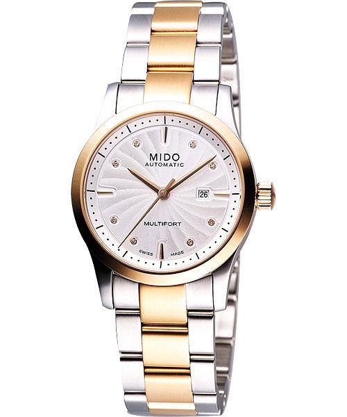 MIDO 美度 Multifort 系列優雅女仕機械錶-半金/32mm M0050072203600