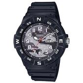 【CASIO】潛水設計迷彩風運動指針錶-灰(MRW-220HCM-1B)