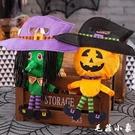 萬聖節裝飾 萬聖節糖果袋兒童幼兒園場景布置裝飾品手提禮物討糖袋南瓜袋巫婆 『毛菇小象』