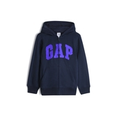 Gap男童棉質毛圈布內裡連帽衫554448-藏青色