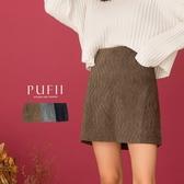 PUFII-褲裙 質感水波紋A字短褲裙-1119 現+預 冬【CP19523】