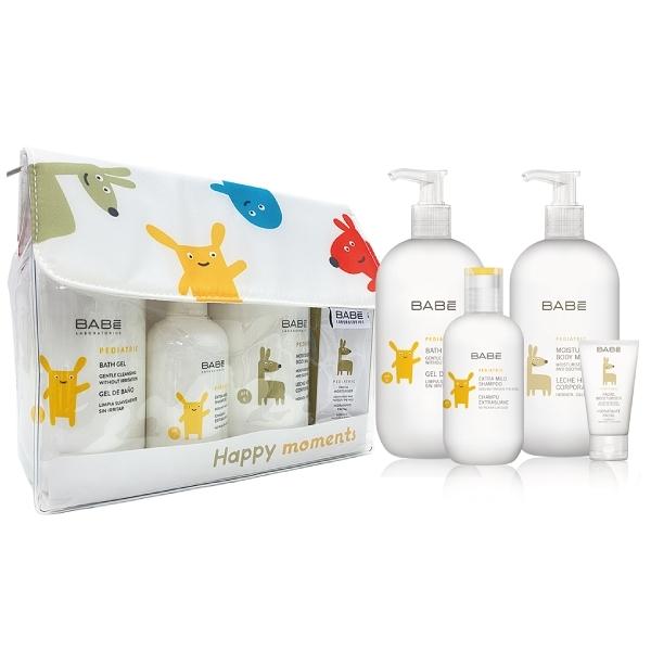 西班牙 BABE Laboratorios 潔淨呵護禮盒(沐浴+洗髮+乳液+滋潤霜)