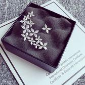 耳環 925純銀鑲鑽-優質名媛生日聖誕節禮物女耳飾73du24[時尚巴黎]