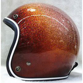 812 礦石金蔥 半罩 3/4 安全帽 美式哈雷 復古