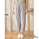 【Tiara Tiara】百貨同步  素面鬆緊帶棉質長褲(灰)