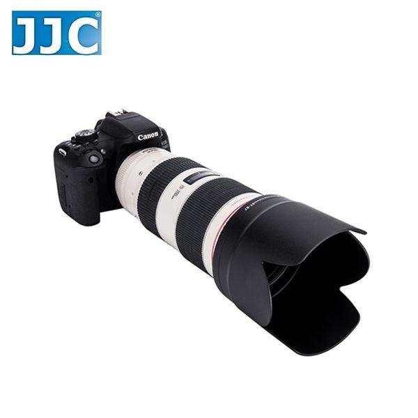 又敗家@黑色JJC副廠Canon遮光罩ET-87遮光罩EF 70-200mm f/2.8L IS USM II可反扣同原廠ET87太陽罩小黑遮光罩