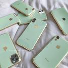 牛油果綠適用于蘋果x手機殼蘋果11簡約7plus高檔6s新款電鍍iPhoneXsMax 店慶降價