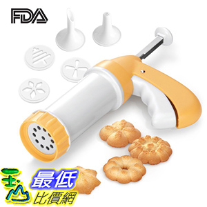 [107美國直購] 餅乾壓花器 Artale Biscuit Maker Cheese Dessert Sticks Spritz Cookie Press with Disks and Icing Tips