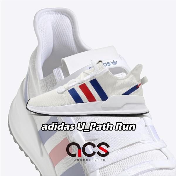 adidas 休閒鞋 U_Path Run 白 藍 紅 男鞋 女鞋 襪套式 復古慢跑鞋 運動鞋 【ACS】 EG5331