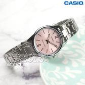 CASIO卡西歐 LTP-V005D-4B 簡潔風格鋼帶女錶 石英錶 防水手錶 不銹鋼 粉紅 LTP-V005D-4BUDF