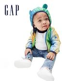 Gap嬰兒 彩色漸層熊耳連帽外套 880411-芒果黃