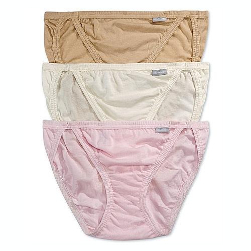 Jockey 女純棉String比基尼內褲3件裝(白色/粉紅)