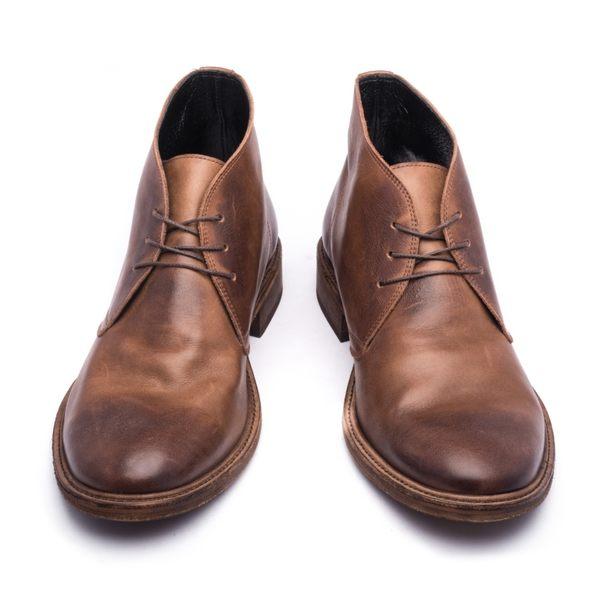 Vibram皮革鞋底沙漠靴#22344深咖啡 -ARGIS日本製手工皮鞋
