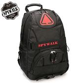 後背包 SPYWALK加厚尼龍多隔層電腦背包  NO:2923