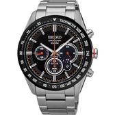 SEIKO 精工 Criteria 極速風暴太陽能計時碼錶-黑/42mm V175-0DK0R(SSC463P1)