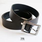[潮流堂]PEB02加長型/最大可至48腰/線條方扣單針素面腰帶