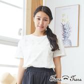 【Tiara Tiara】網路獨家 大水玉點點短袖上衣(白底藍水玉/白底灰水玉/卡其底黃水玉)