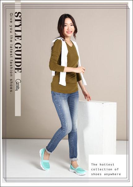 Comphy  輕light 系列  超纖皮革輕量抗震直套式休閒鞋 綠
