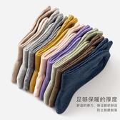 長襪子女春秋冬中筒純棉學院風百搭潮個性薄堆堆襪