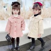 女童毛呢外套 童裝女童冬裝新款韓版呢子大衣寶寶洋氣毛呢外套兒童秋冬上衣 麗人印象 免運