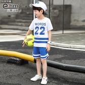 夏季套裝 童裝男童運動套裝夏裝2019新款兒童中大童夏季男孩韓版潮