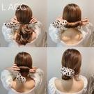 盤髪器 2020韓國代購新款丸子頭盤髮器網紅懶人波點蕾絲編髮造型神器女