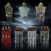 萬圣節鬼屋酒吧密室派對恐怖掛鬼裝飾品骷髏喪尸吊鬼場景布置道具