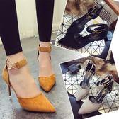 高跟鞋 女夏新款韓版細跟尖頭性感工作單鞋 sxx1157 【衣好月圓】