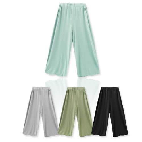 MIUSTAR 涼感絲微透細直線壓紋寬褲(共4色)【NF1973GW】預購