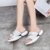 夏季新款女鞋外穿時尚ins百搭運動可愛網紅半拖沙灘潮涼拖鞋  英賽爾3c
