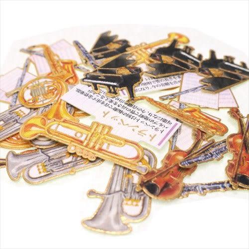 大人圖鑑散裝貼紙包-日本製-30枚入(樂器篇)★funbox★KAMIO_KM08120