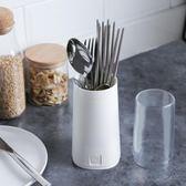 筷子筒家用多功能瀝水筷子籠筷子盒廚房創意帶蓋防塵餐具收納盒子  ATF 極有家