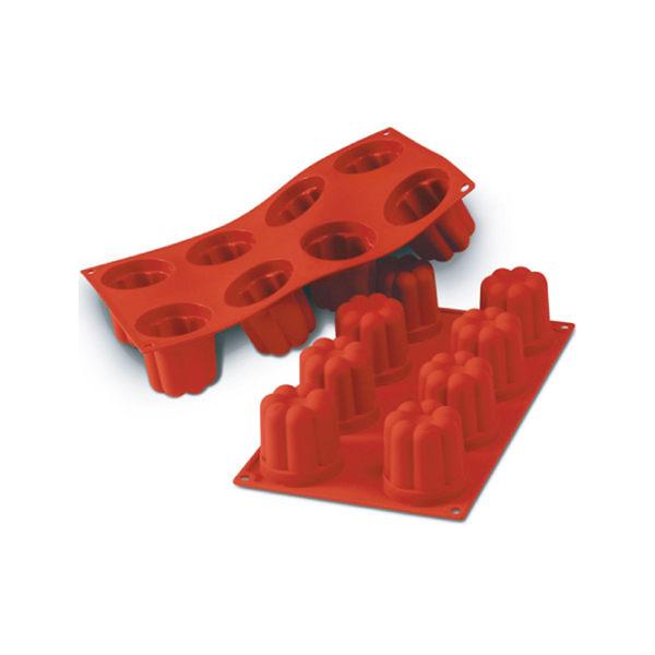 義大利進口《Silikomart》8連小花型矽膠模/冰模/30.051.00.0060