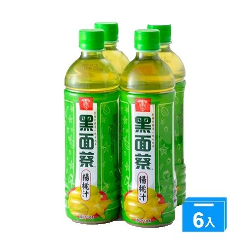 黑面蔡楊桃汁飲料580mlx24入【愛買】
